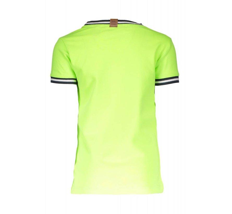 6423 507 - Neon yellow Boys lion shirt