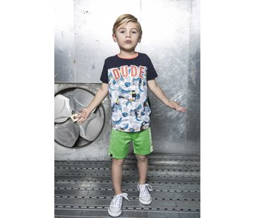 B.NOSY 6434 982 - Toucan ecru melee AO Boys t-shirt with AO print