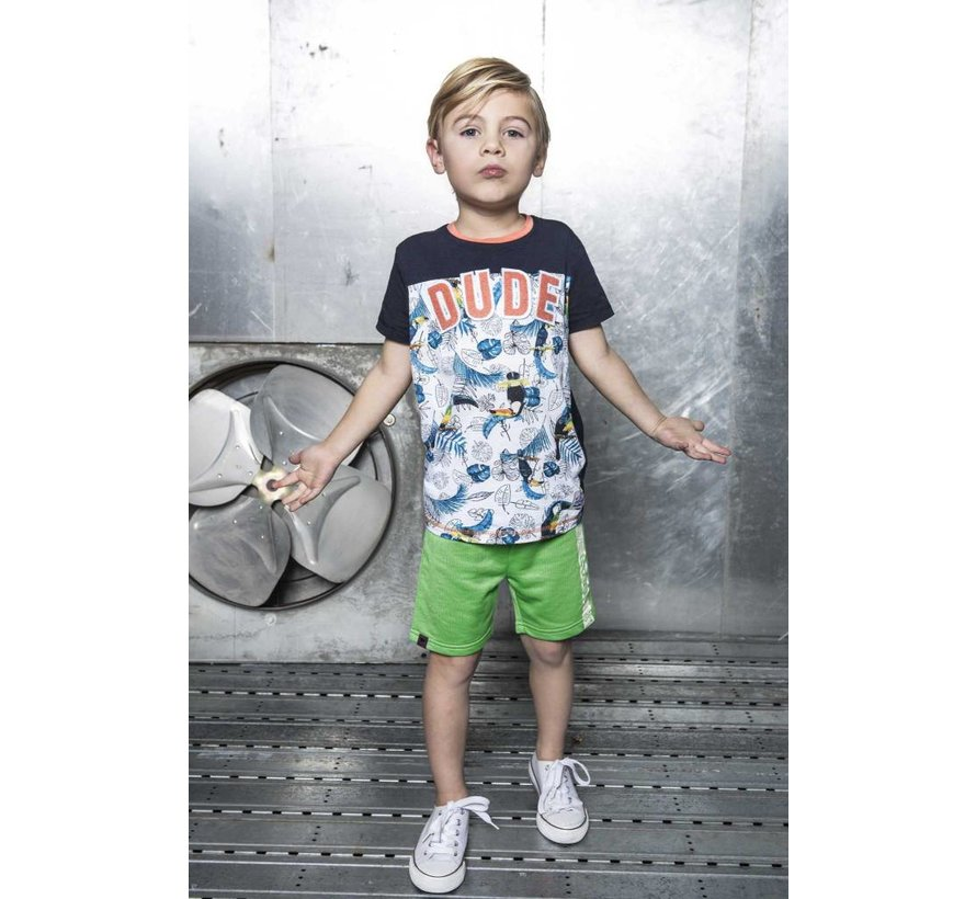 6434 982 - Toucan ecru melee AO Boys t-shirt with AO print