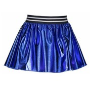 B.NOSY Y902 5752 coated skater skirt metallic royal blue