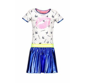 B.NOSY y902 5856 bird dress with coated skirt