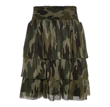Name it 13169093 Nkfsanessi skirt bright white/camouflage