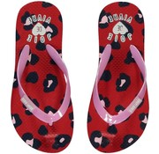 Quapi SALE Saavi flipflops red leopard