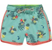 Quapi Sev swim shorts soft mint botanic