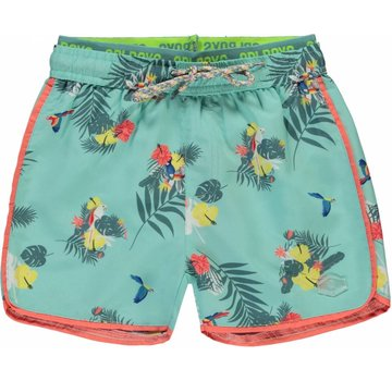 Quapi Sev swim shorts soft mint botanic