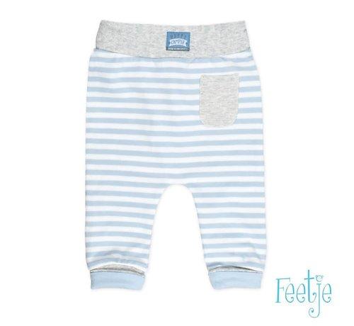 Feetje 52201183 broek streep happy camper blue