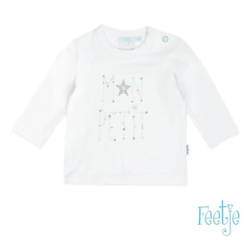 Feetje 51601195 longsleeve mon petit stars white