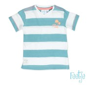 Feetje 51700484 tshirt k/m streep pool party mint