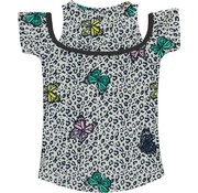 Quapi Sunshine top multi butterfly