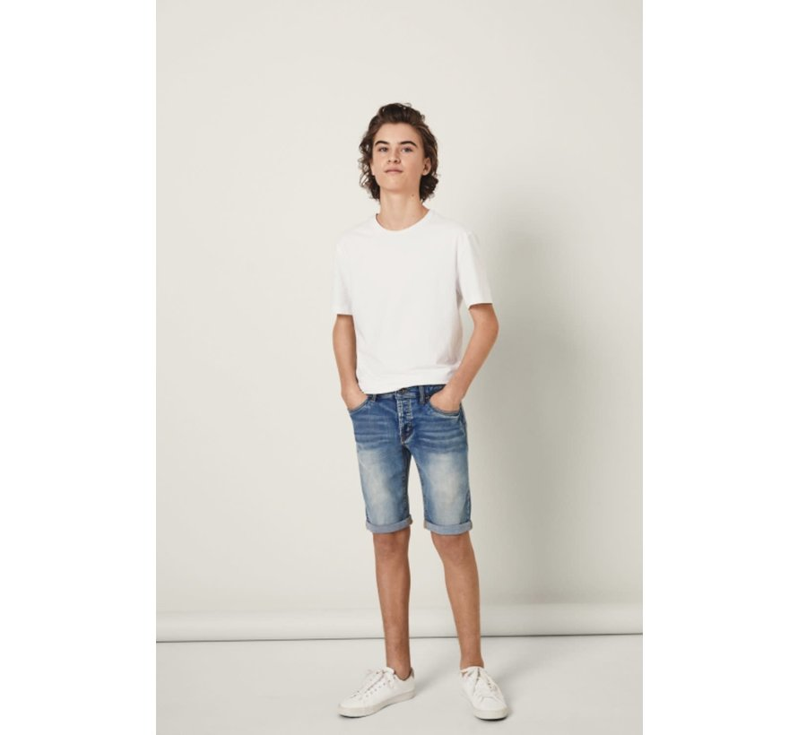 13160819 Nlmshaun Dnmtathan 1164 long shorts light blue denim
