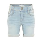 Name it 13161951 Nmmsofus Dnmbance 1177 long shorts light blue denim