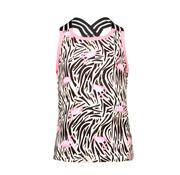 B.NOSY 5482 953  White flamingo zebra singlet wit SALE