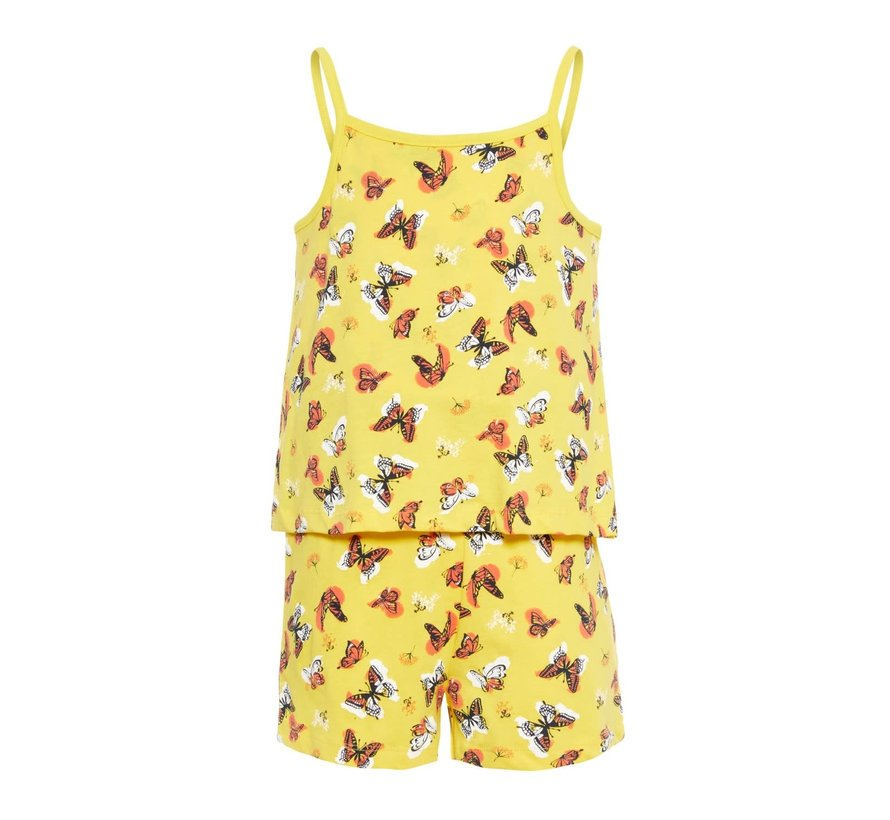NKFVIGGA STRAP SUIT H 13164414 primrose yellow butterflies