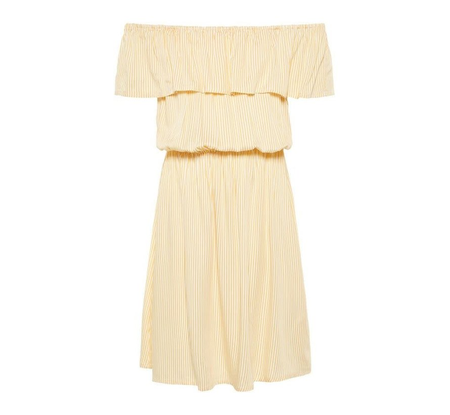 13166468 Nlfhimona offshoulder dress pale marigold