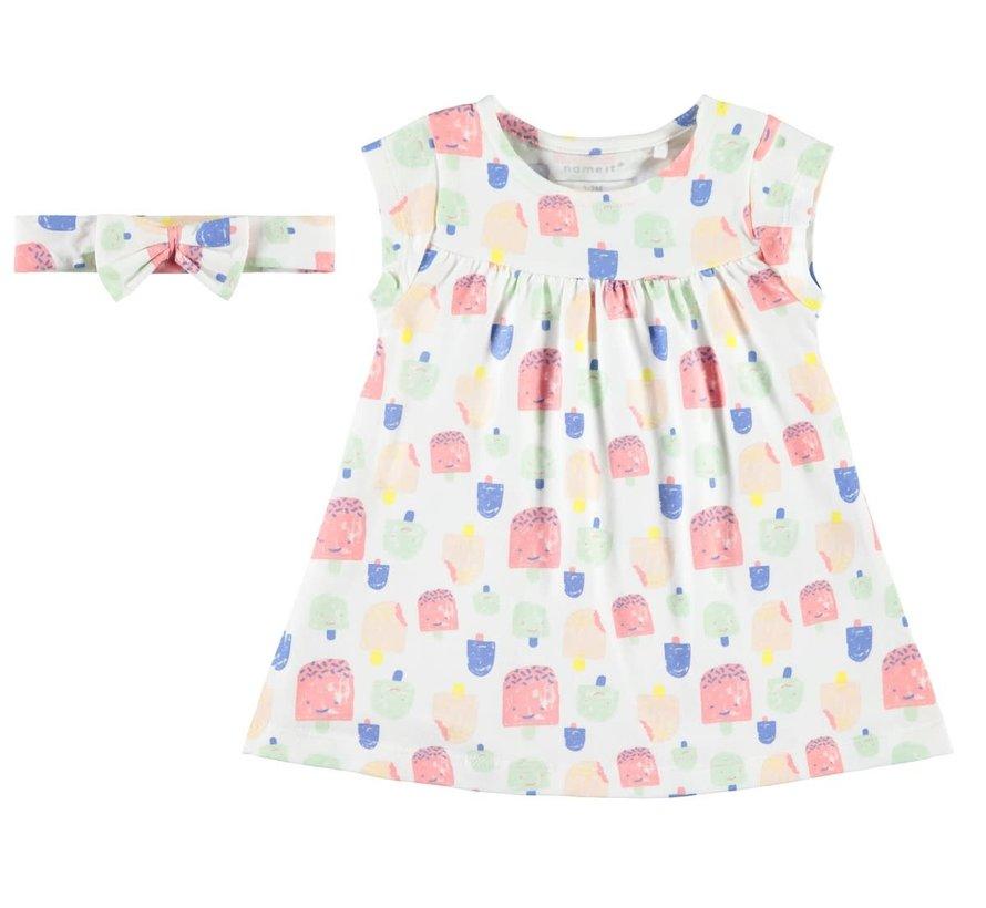 13166306 Nbfhebine dress set bright white