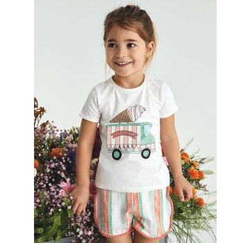 Name it 13168428 Nmfjuvibarba shorts bright white/stripes