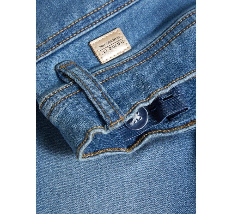 SALE 13167754 Knfpolly capri legging medium ble denim