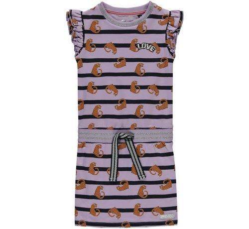 Quapi Sezina dress soft lilac leopard