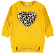 Name it 13166896 Nmfluero sweat dress golden orange