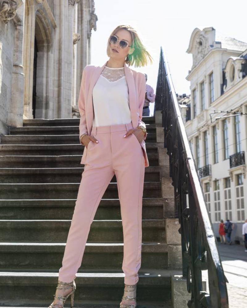 Feminine Suit Blazer Pink