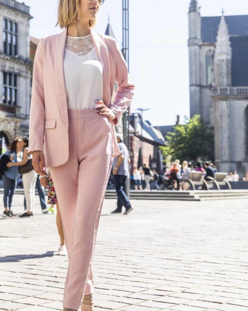 Feminine Suit Pants Pink