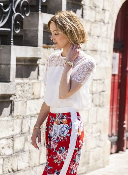 Lace Short Sleeves