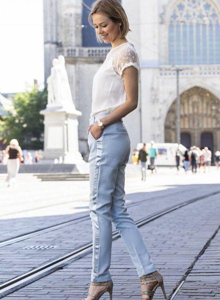 Feminine Suit Pants Blue