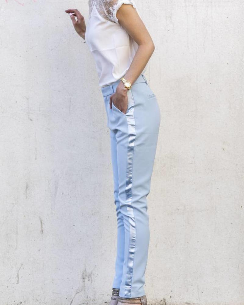 Feminine Suit Pants Blue