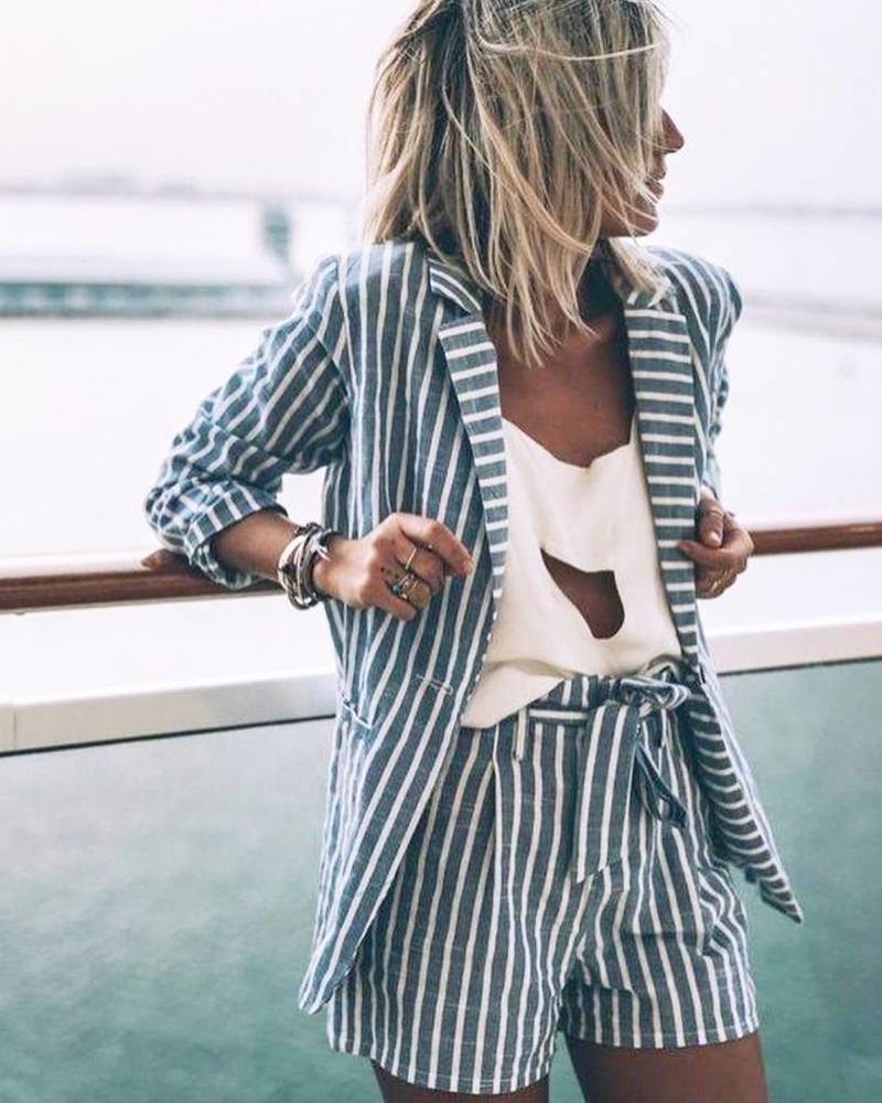 Striped Suit Grey - Blazer