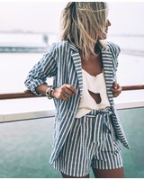 Striped Suit Grey - Short