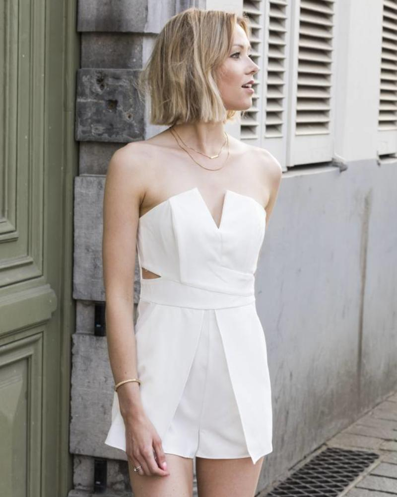 Classy playsuit white
