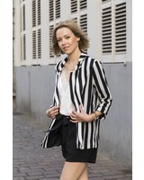 Striped Black White Blazer