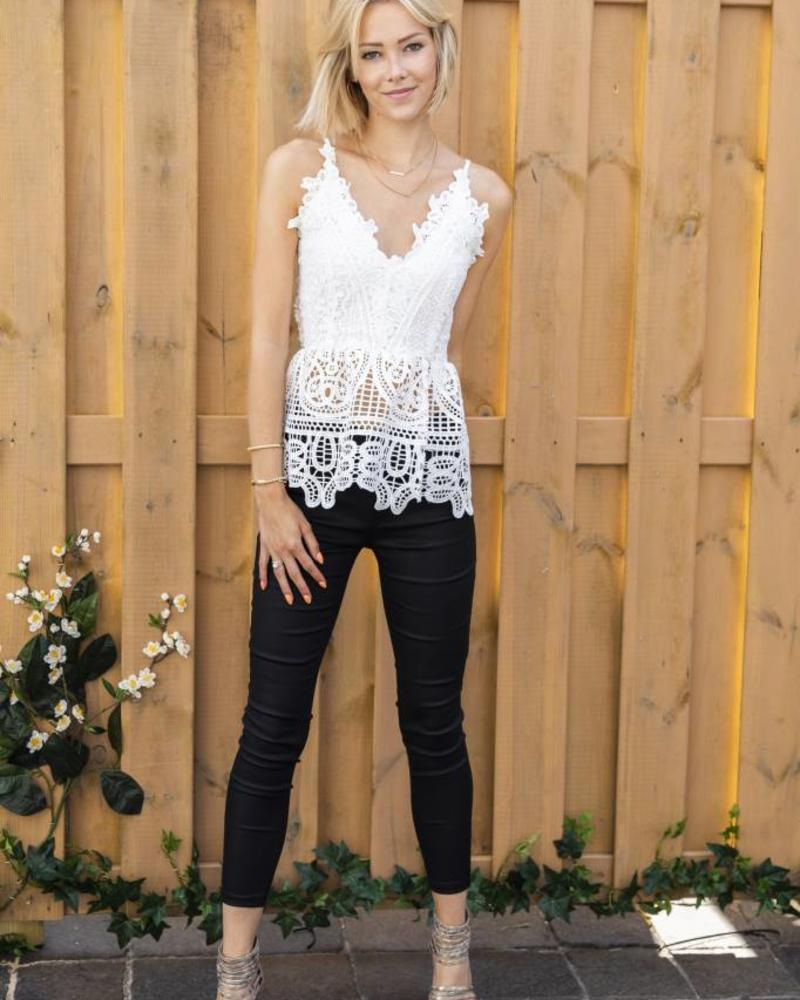 Crochet Boho Top White
