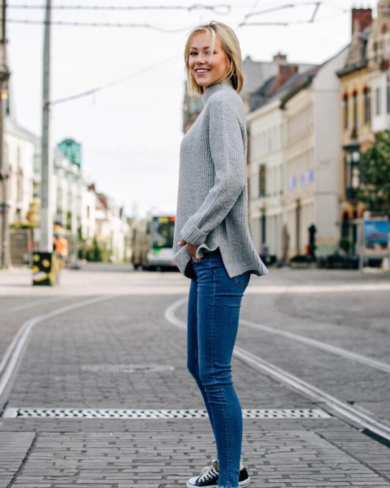 Cosy Collar Sweater Grey