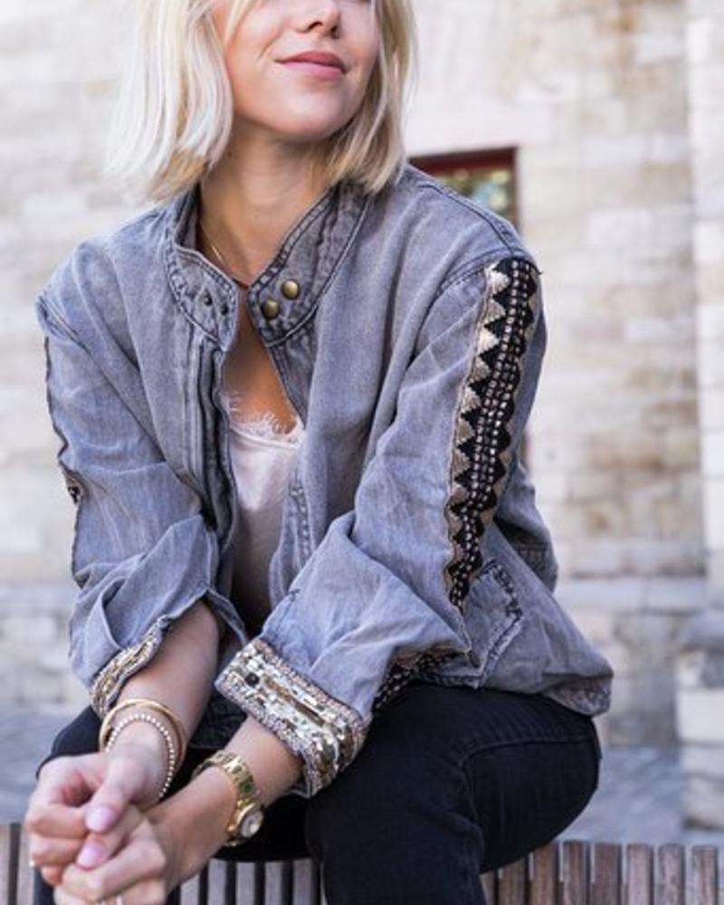Indian Gold Jacket Grey