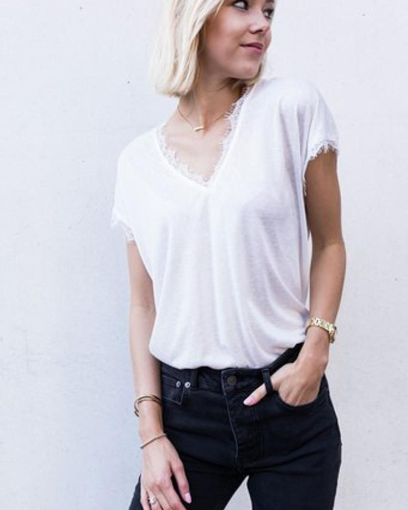 Basic Lace T-shirt White