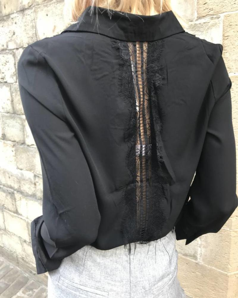 Back Lace Blouse