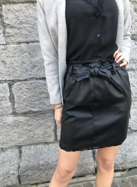 Leather Lace Skirt