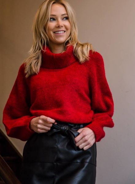 Collar Sweater Red