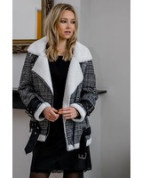 Checkered Winter Jacket White