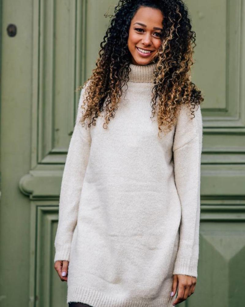 Sparkle Sweaterdress Beige