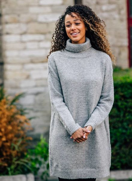 Sparkle Sweaterdress Grey
