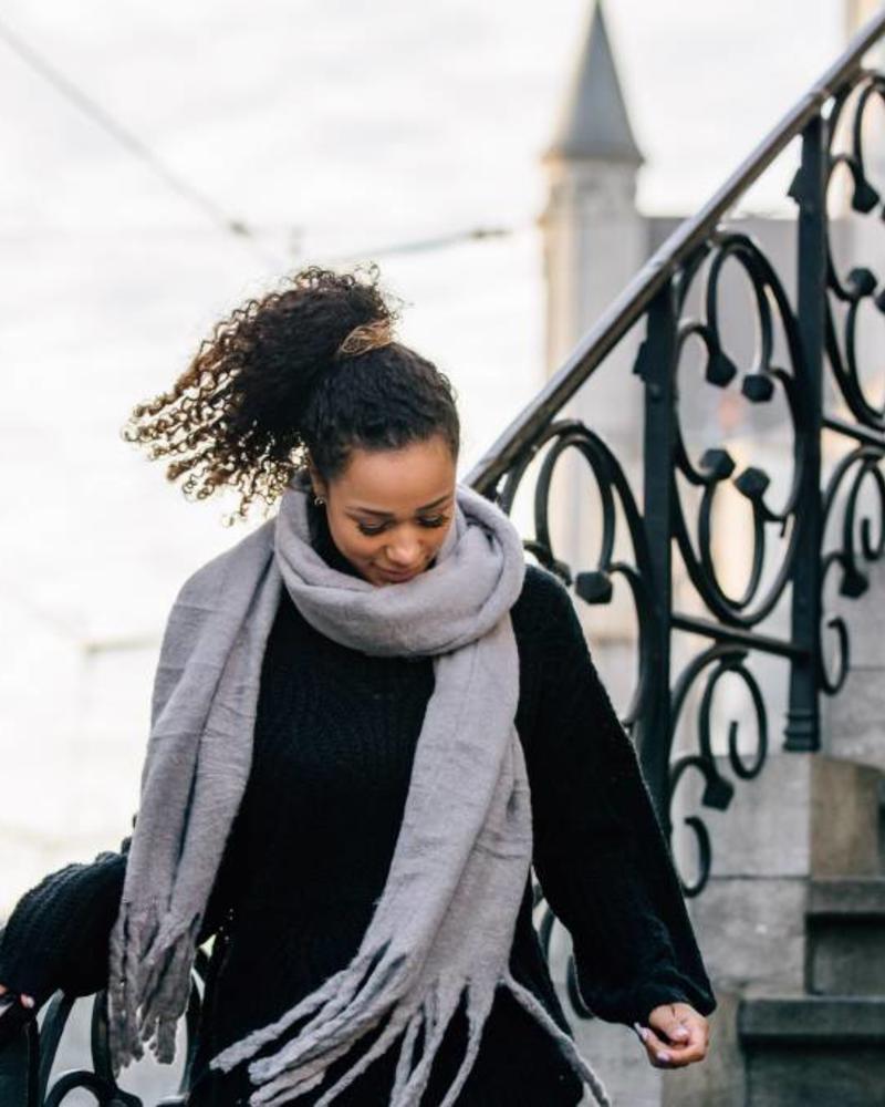 Sjaal Grey