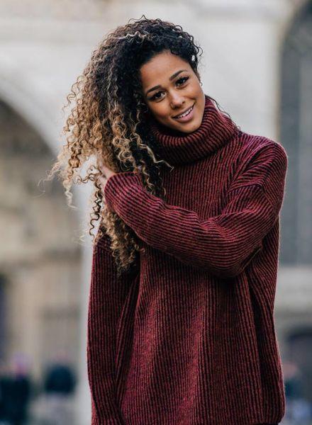 Comfy Collar Sweater Brique