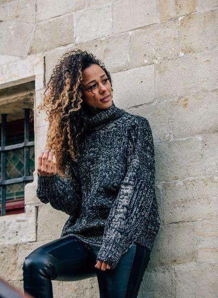 Black White Oversized Sweater