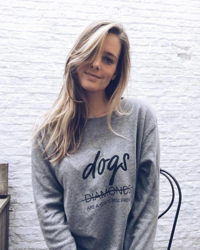 Dogs are a girl's best friend SWEATER