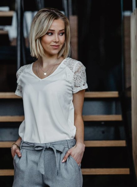 Lace T-shirt White