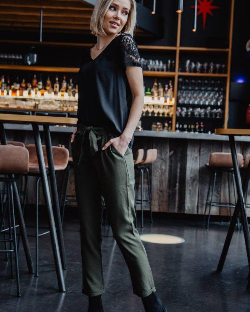 Lace T-shirt Black