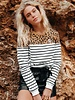 Striped Leopard Sweat