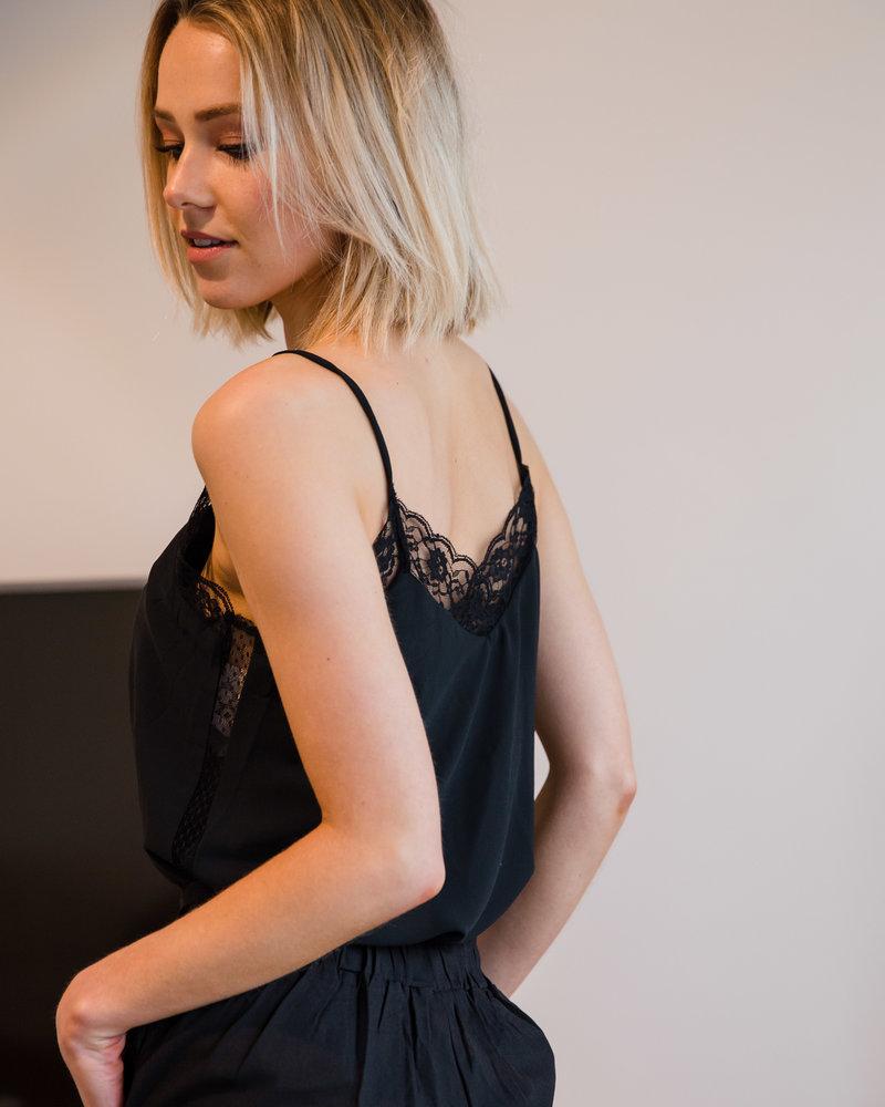Romantic Lace Top Black